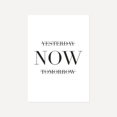Yesterday Now Tomorrow | Poster