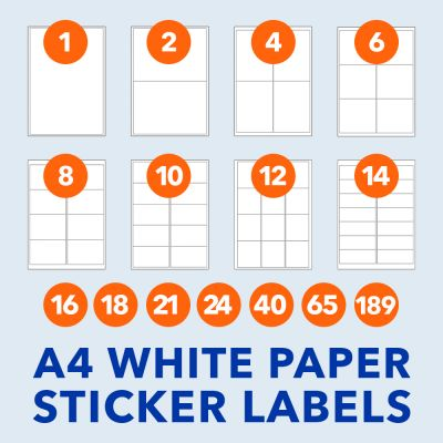 Rectangle | A4 Sticker Labels